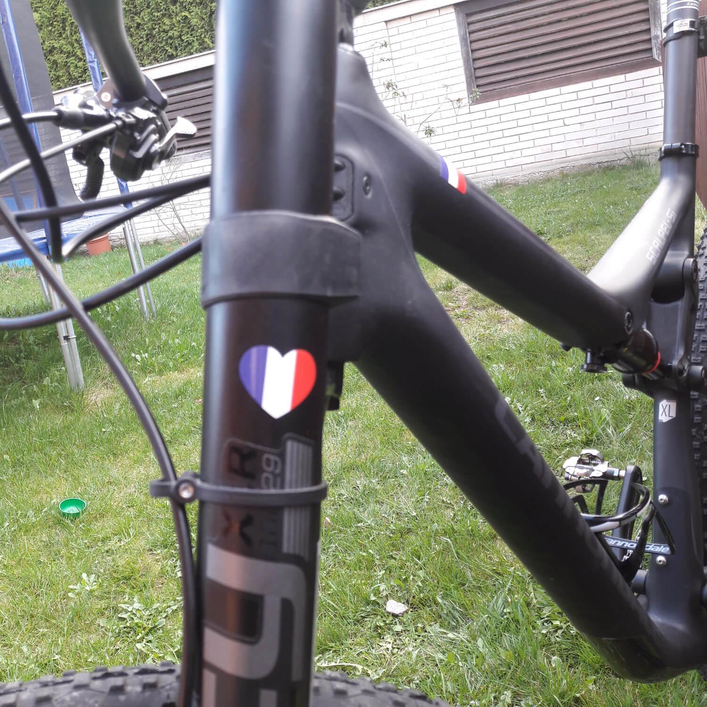 Drapeau de la France pour tous les cyclistes