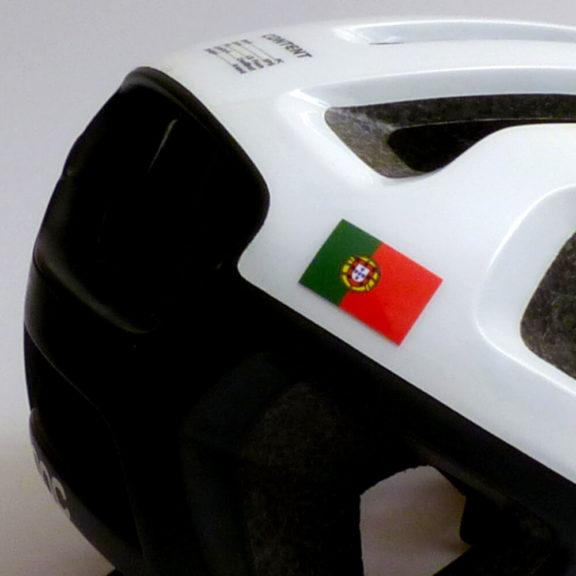 Bandeira de Portugal para bicicleta e capacete