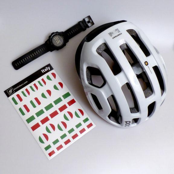 Bandiera Italia per bicicletta e casco