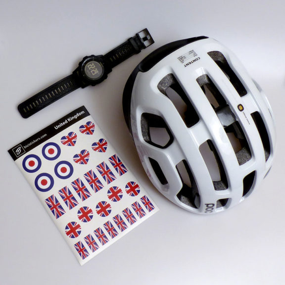 Bicycle stickers with UK flag