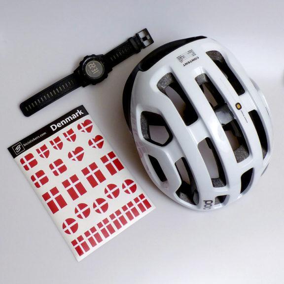 Danmark flag til cykel for cyklister