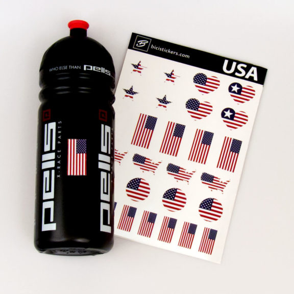 Decals with USA flag