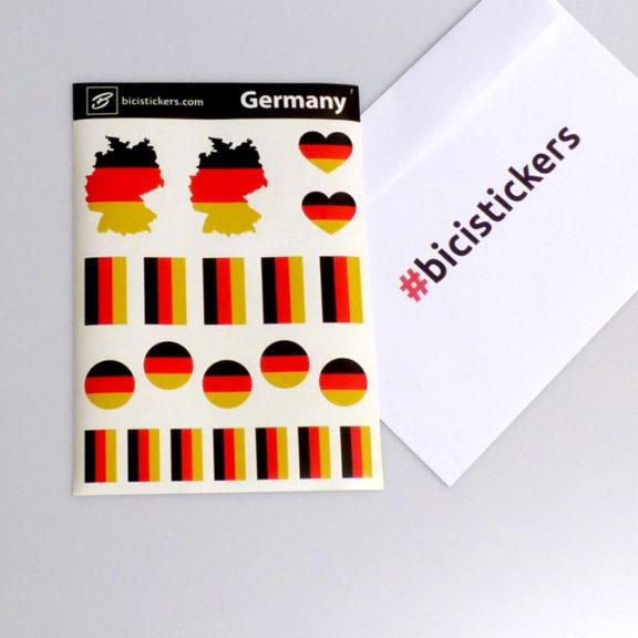 Deutsche Flagge für Fahrrad