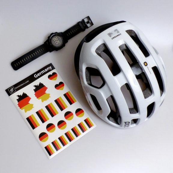 Deutsche Flagge für Fahrrad und Helm