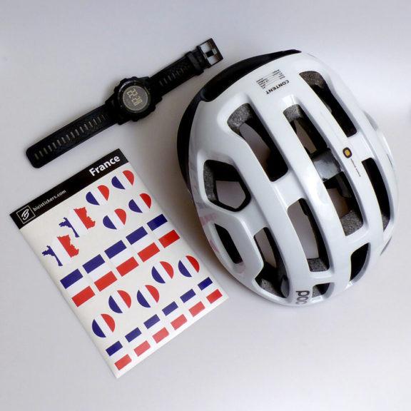 Drapeau france pour cyclisme et casque