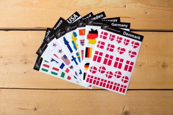 Flag Stickers Denmark