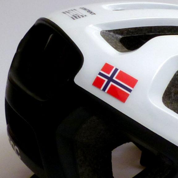 Norge flagg for sykling og hjelm