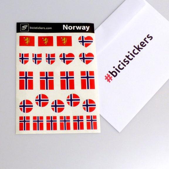 Norge flagg for sykling og sykkel 2