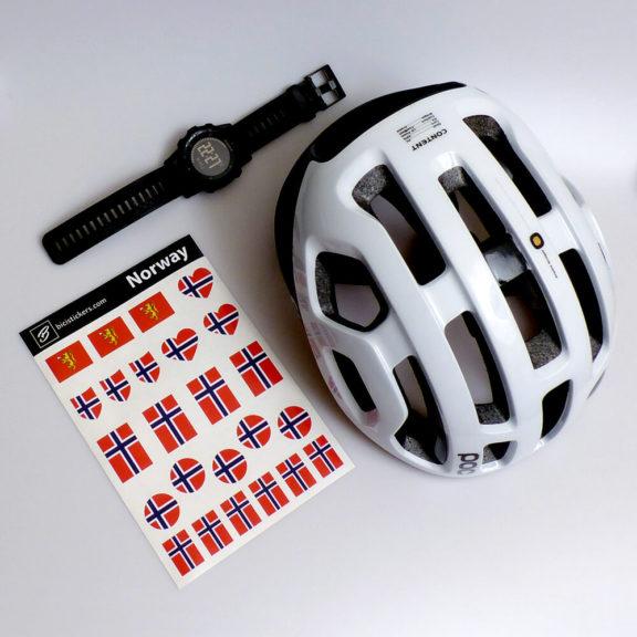 Norge flagg for sykling og sykkel