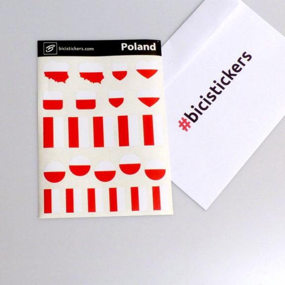 Polska flaga na rower