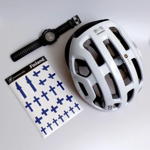 Suomen lippu polkupyörälle
