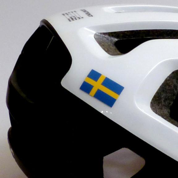 Sverige flagga för cykel och hjälm