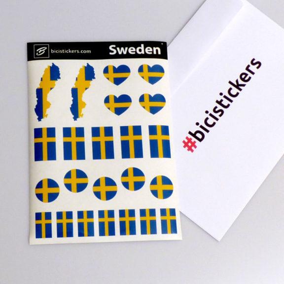 Sverige flagga på cykel