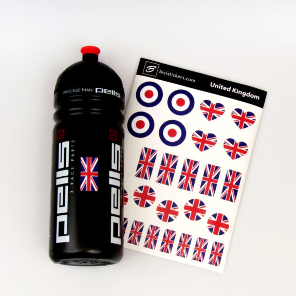 UK flag stickers for cyclists