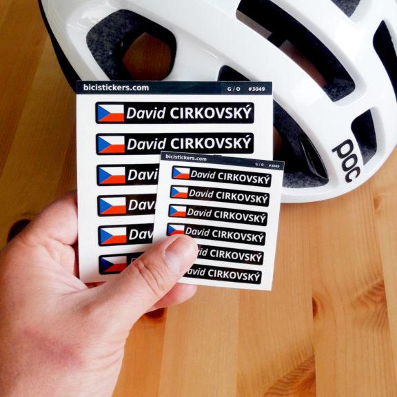 Jmenovky na kolo s českou vlajkou pro cyklisty