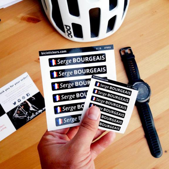 Autocollants de vélo personnalisés drapeau français