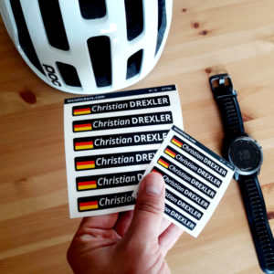 Bicycle name sticker for our client in Germany