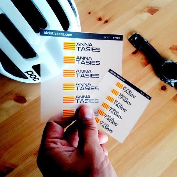 Pegatinas con tu nombre bandera para bicicletas y montain bike